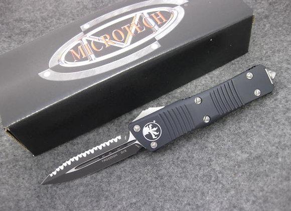 Microtech Troodon D/E Full Serrate Black 138-3