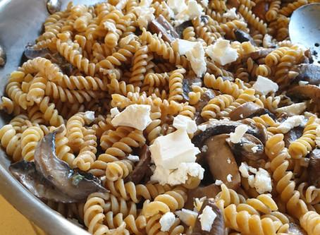 Mushroom and Fetta Pasta