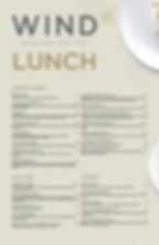 A la carte lunch menu