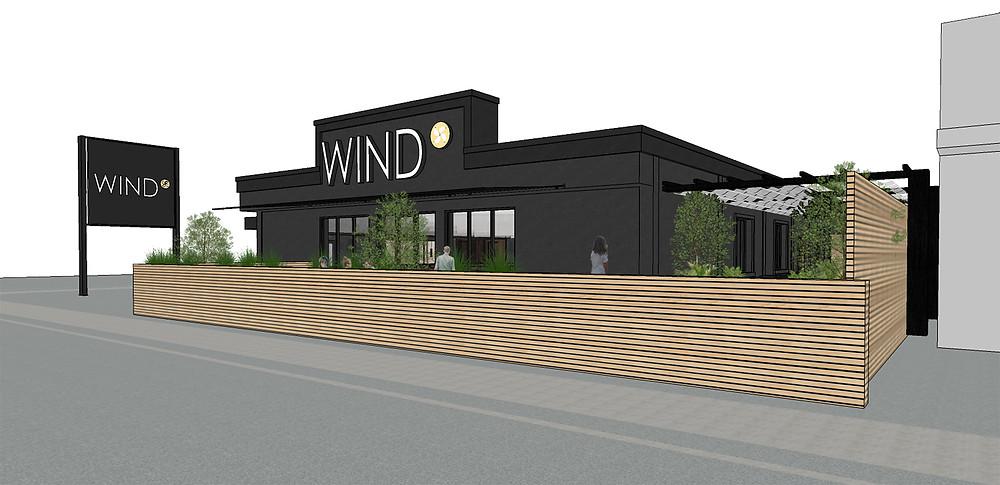 Wind Niagara Falls facade