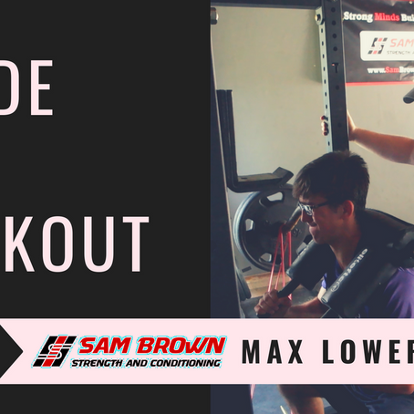 Inside the Workout: Max Effort Lower (Vid)