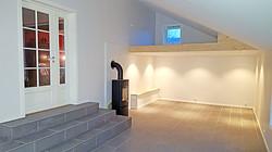 Fiffig tilbygg og luftig TV-stue