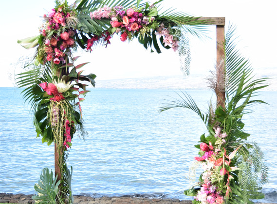 Dreamy tropical arch Coordinator: Vintage and Lace
