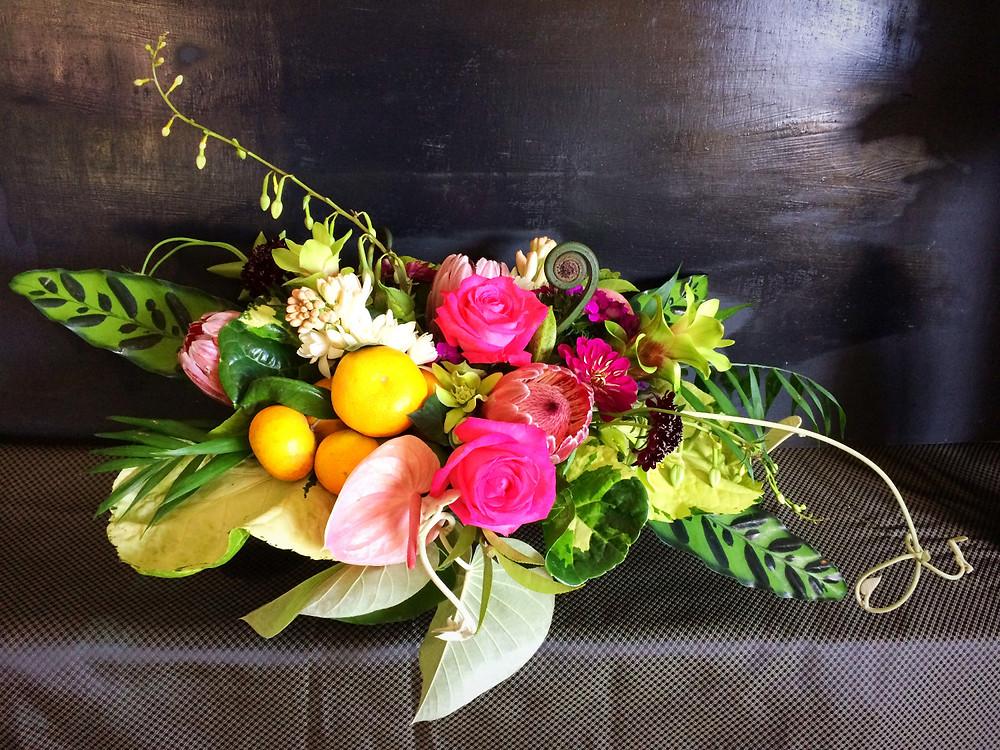 Grace Flowers Hawaii thanksgiving centerpiece