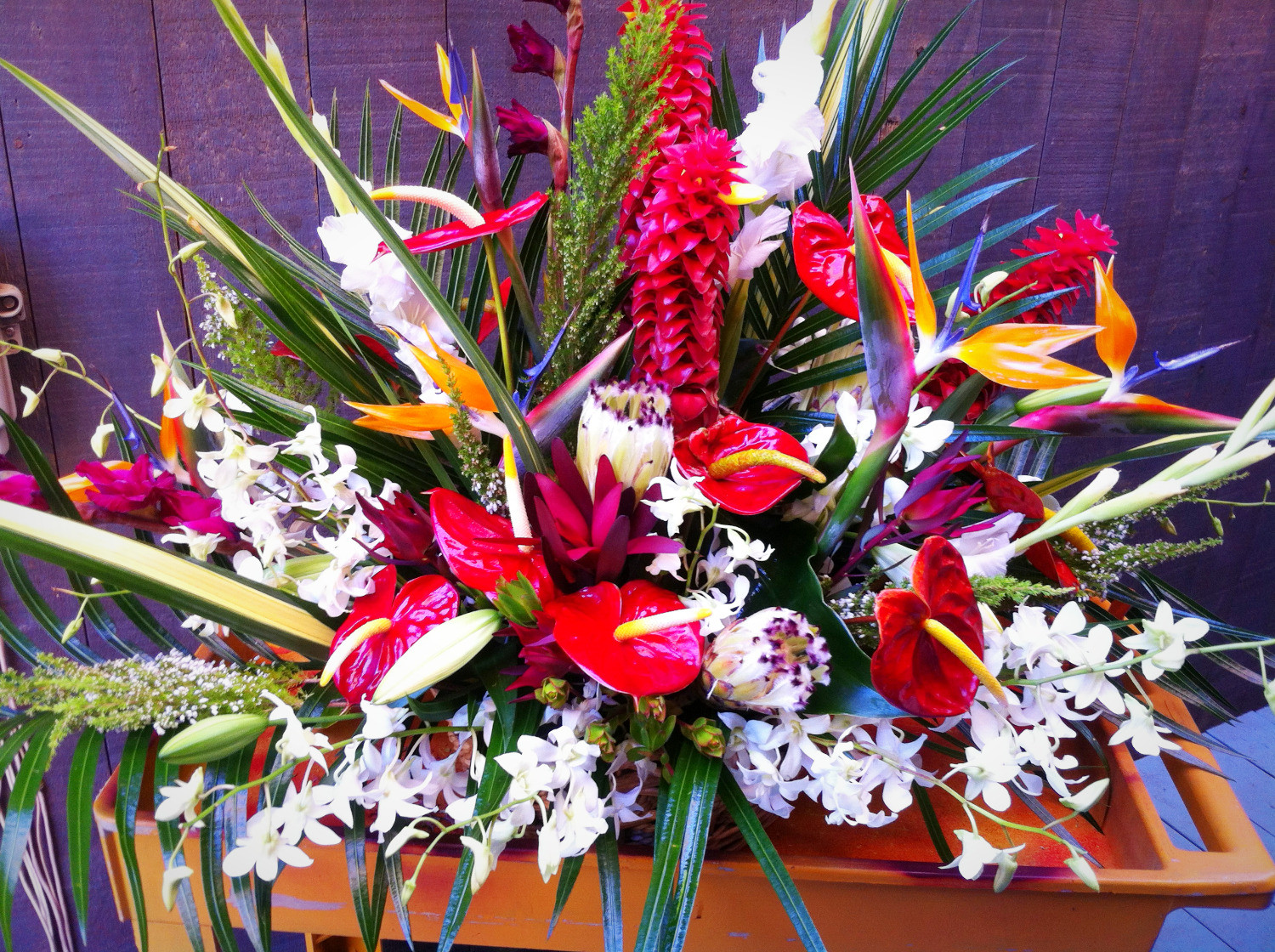Grace flowers hawaii sympathy tropical sympathy arrangement izmirmasajfo