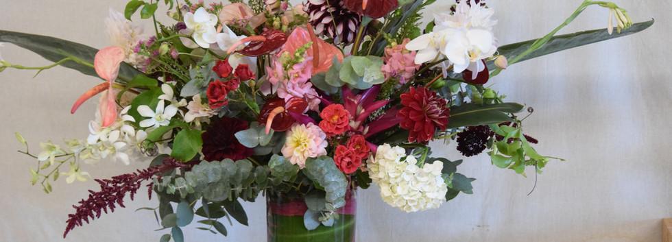 Large lush arrangement