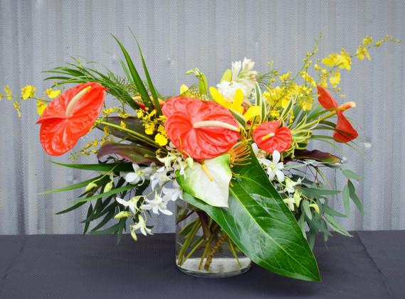 Medium tropical vase arrangement