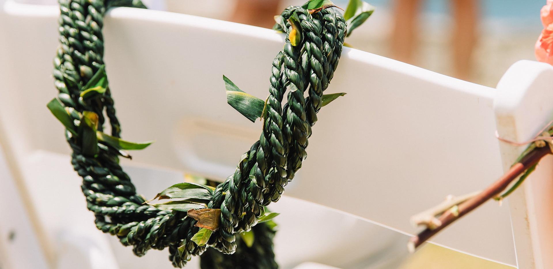 Multi-strand ti leaf lei