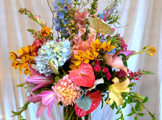 Large spring vase arrangement