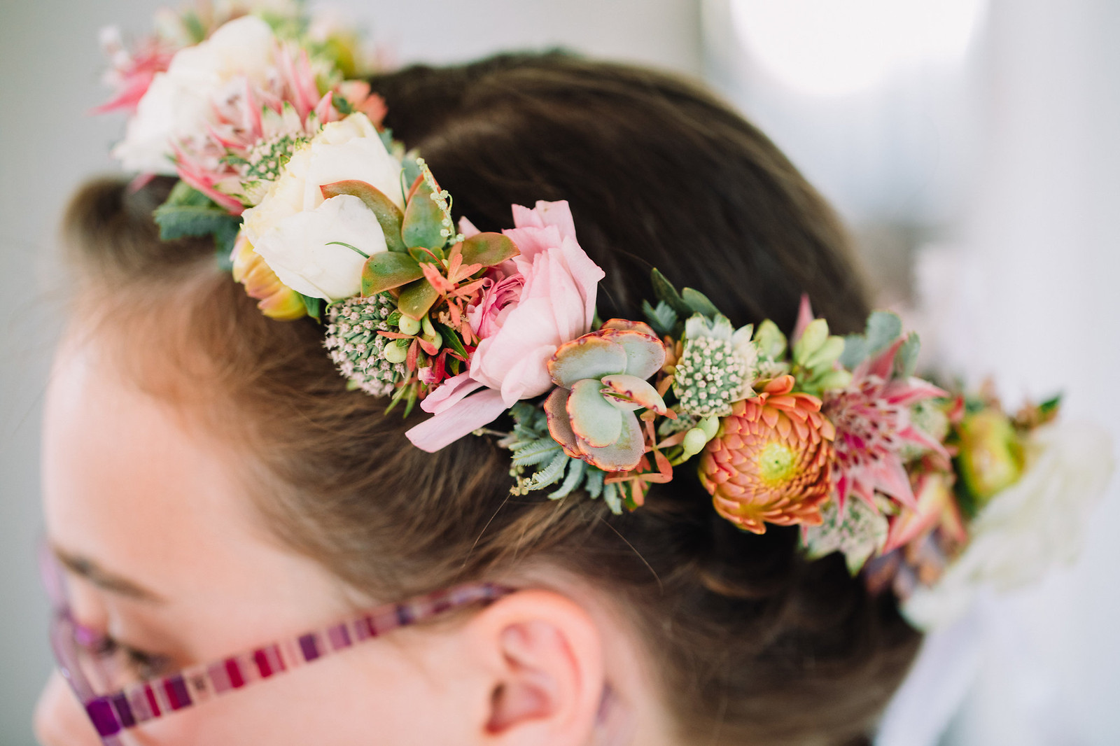 Flower crown nice and densely packed our flower crowns are custom made to fit a color andor flower type starting at 60 fletch photography izmirmasajfo