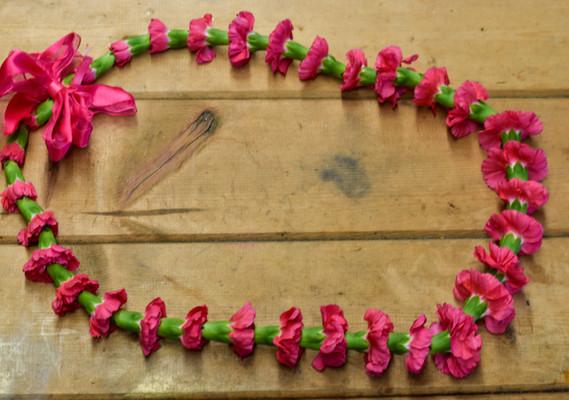 Small carnation lei