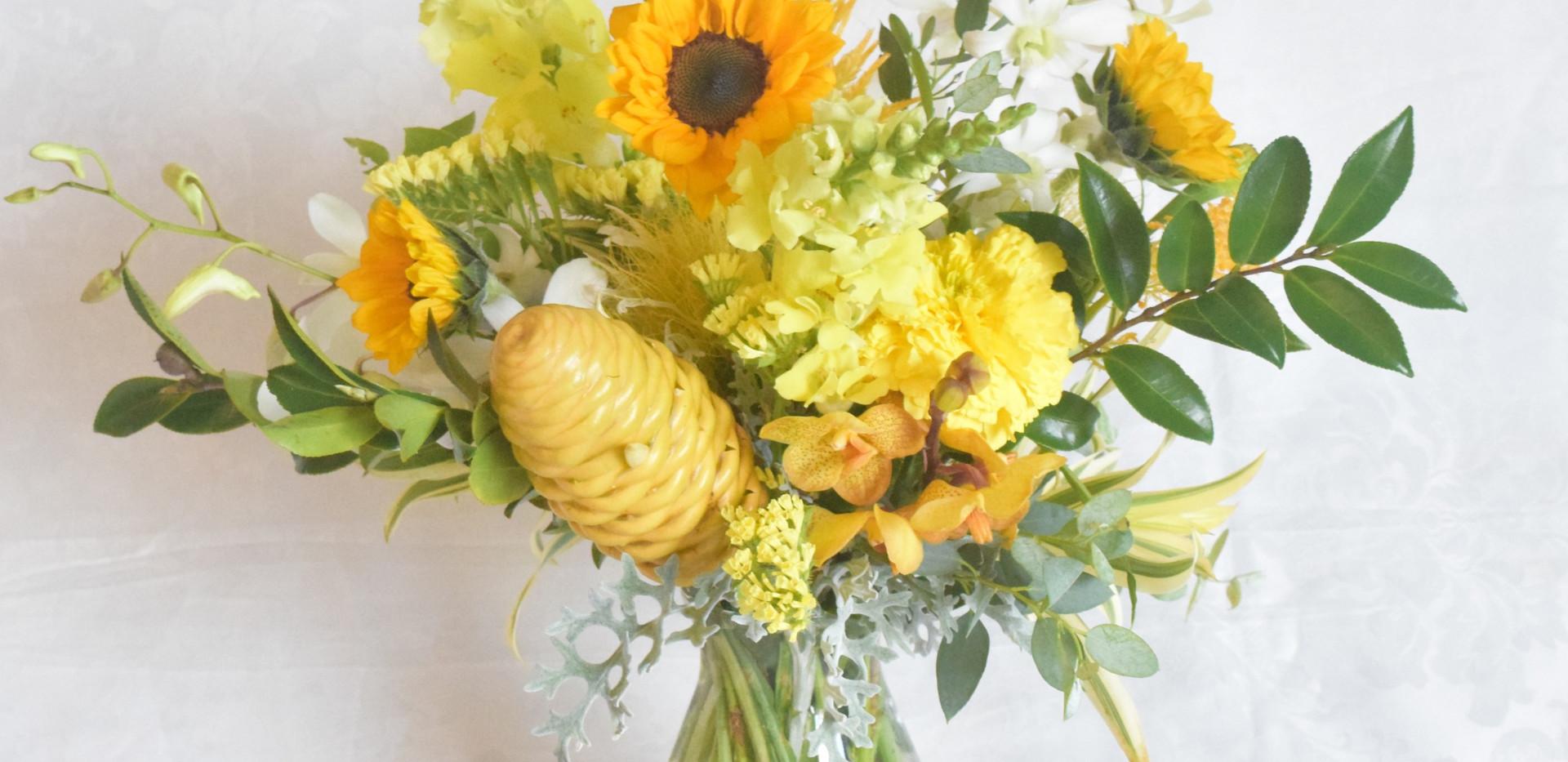 Medium tropical nouveau vase arragement