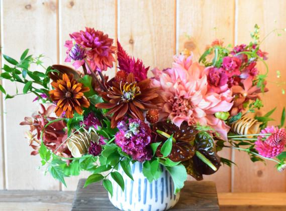 Large dahlia arrangement
