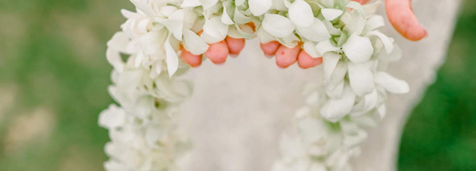 Rope-style white orchid lei