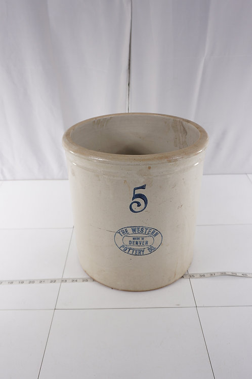 5 Gallon Crock Mfg By The Western Pottery Co