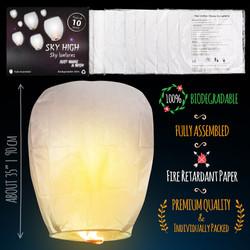 Chinese lanterns sky lanterns  Measures_white