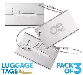 luggage tags for bags with safty cable.