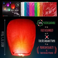 Chinese lanterns sky lanterns  Measures_color