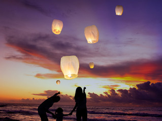 Sky Lanterns - Memories For His Mom