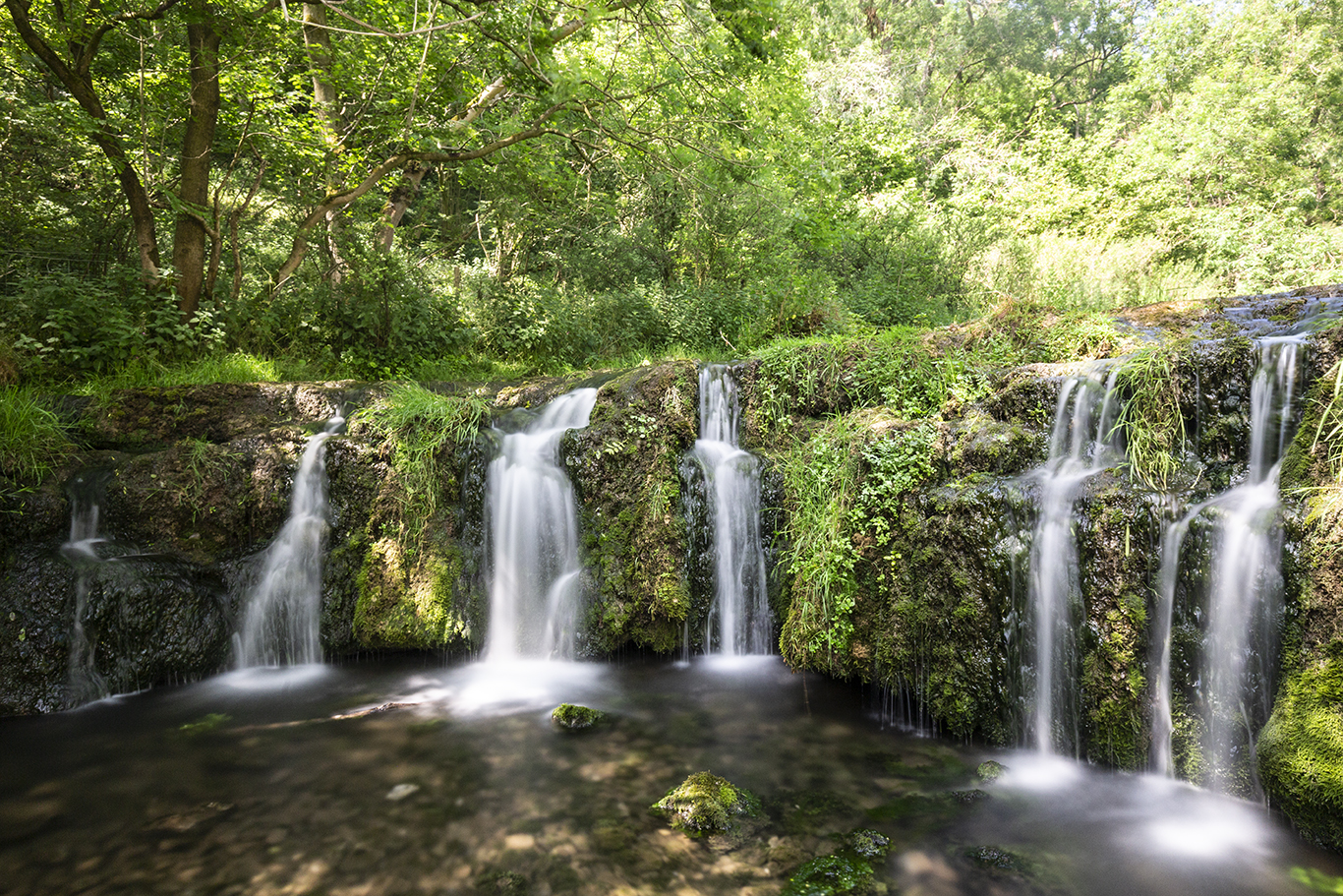 Waterfall At Lathkill Dale