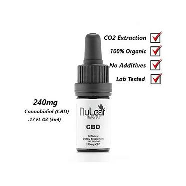 240mg Full Spectrum Hemp CBD Oil, 5ml (48mg/ml)