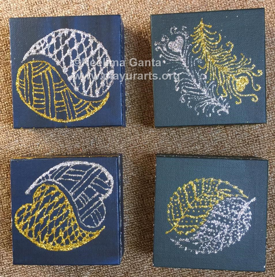 Mini Canvas Paintings set