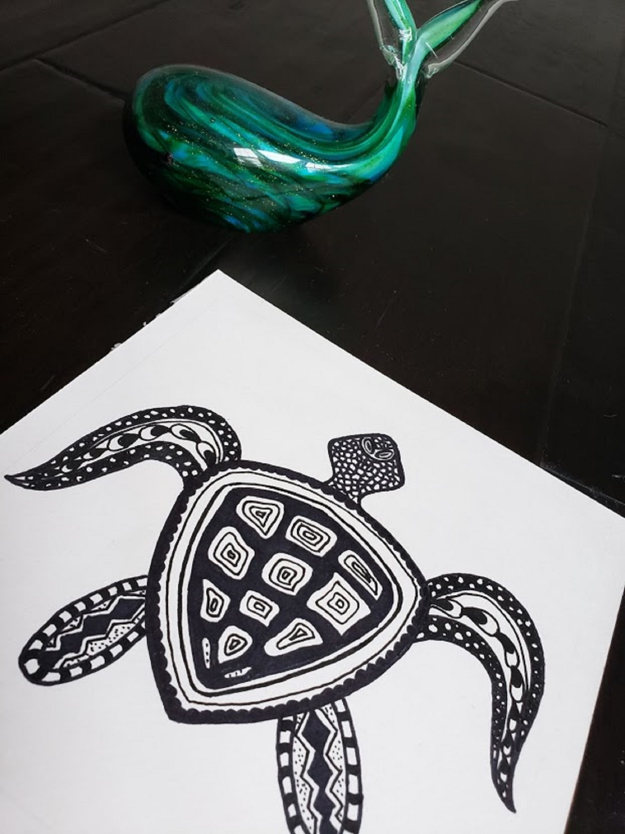 Sea turtle - Zentangle art
