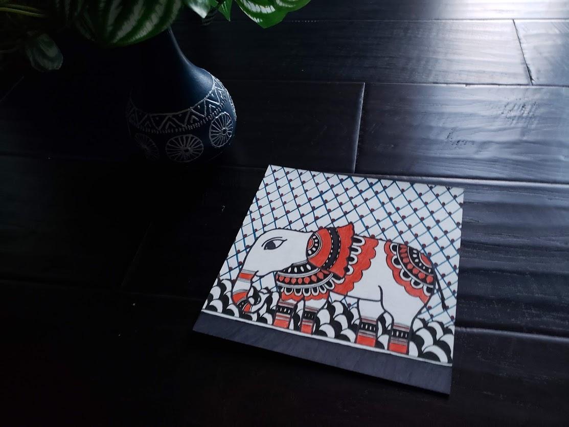 Elephant - Madhubani art