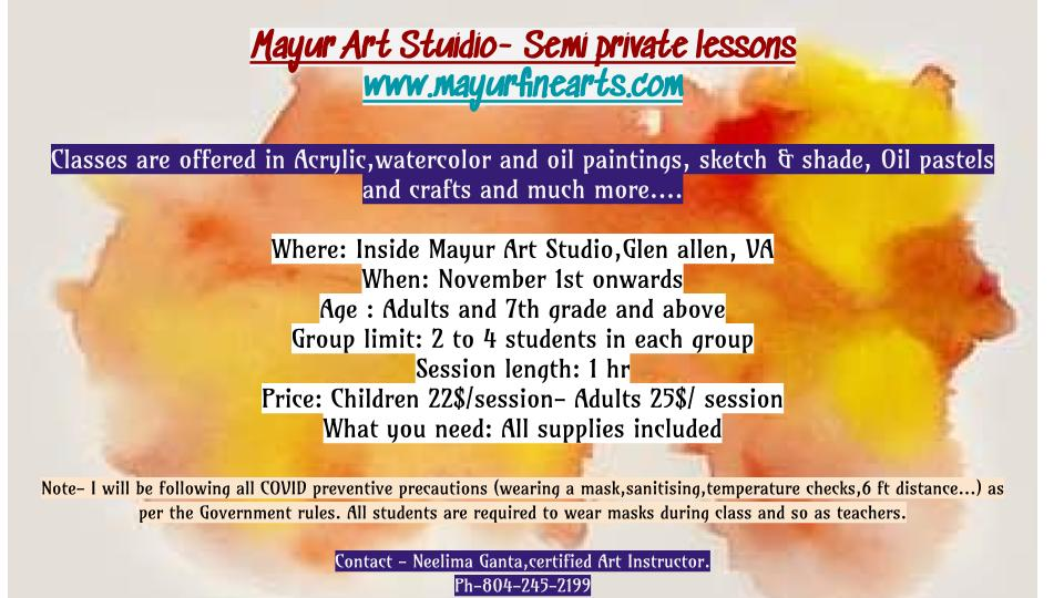 In studio Art lessons