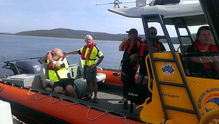 Marine Rescue Crew spend many hours training