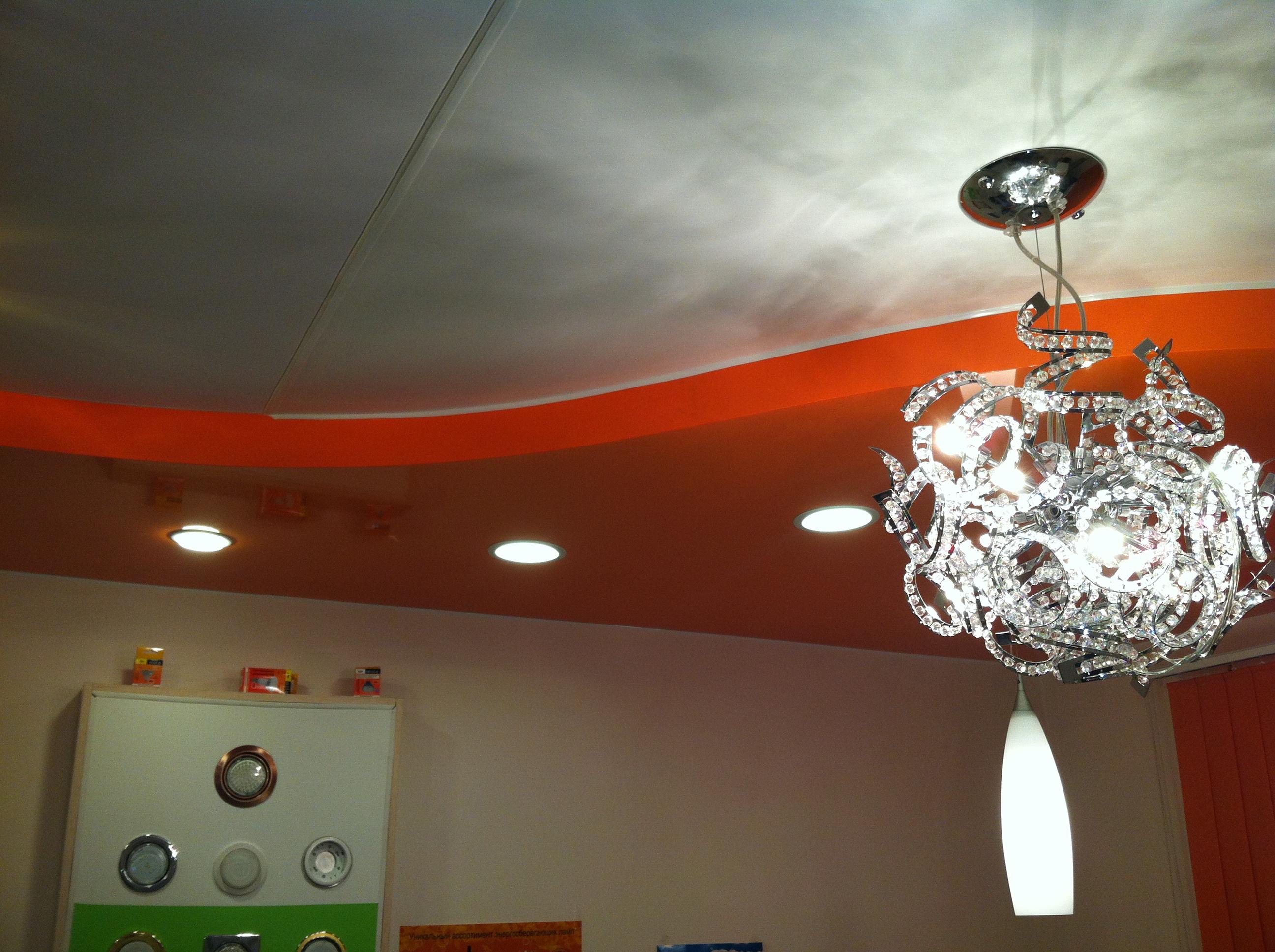 Двухуровневый-натяжной-потолок