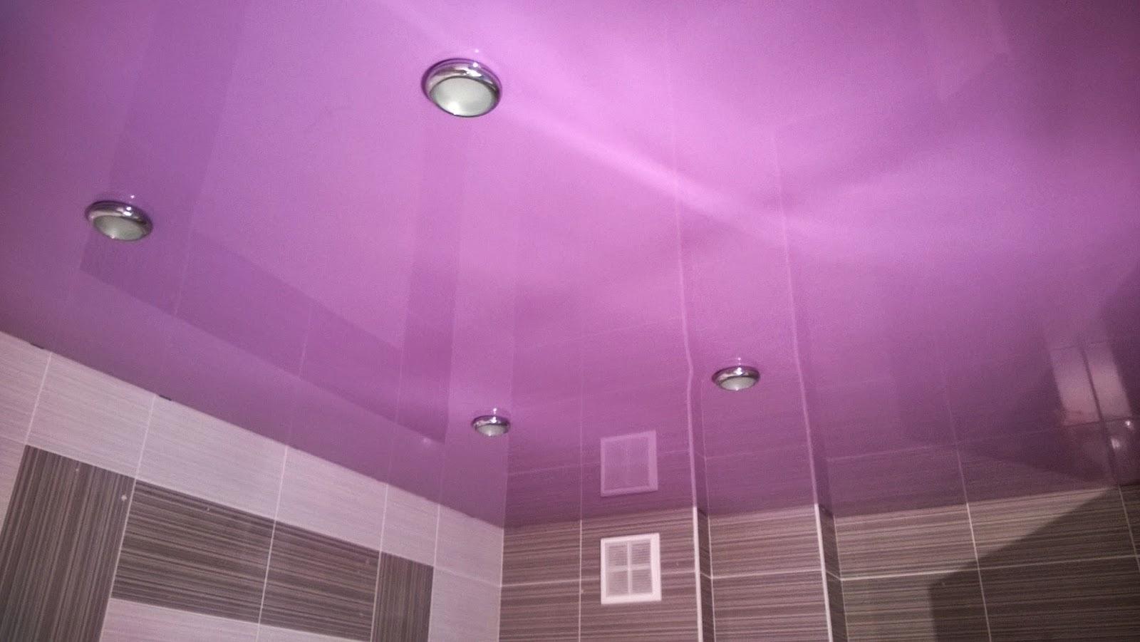 фиолетовый глянцевый потолки