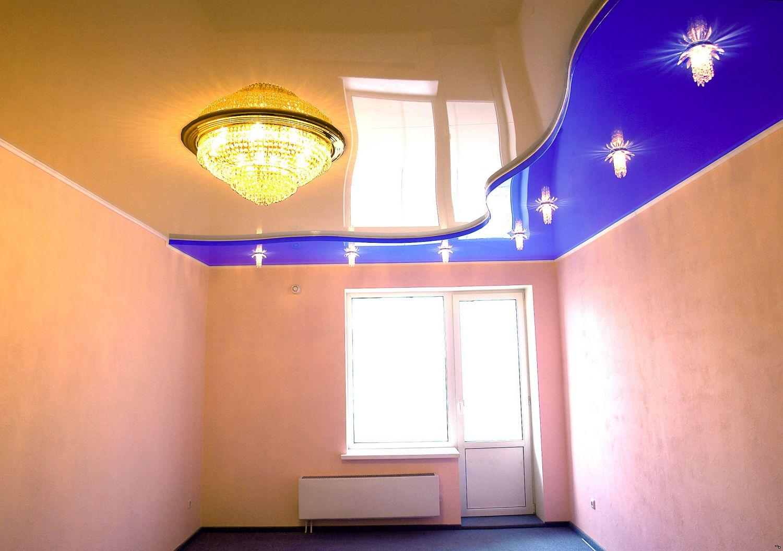 двухуровневые - натяжные потолки