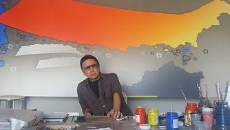 Artista plastico Kenji Fukuda abstrato c
