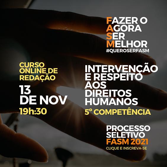 Intervenção e respeito aos direitos humanos. - Profa. Ma. Alessandra Maria Custódio da Silva.