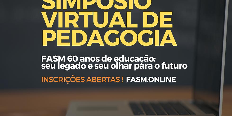 Simpósio Virtual de Pedagogia. De 17 a 21 de maio.