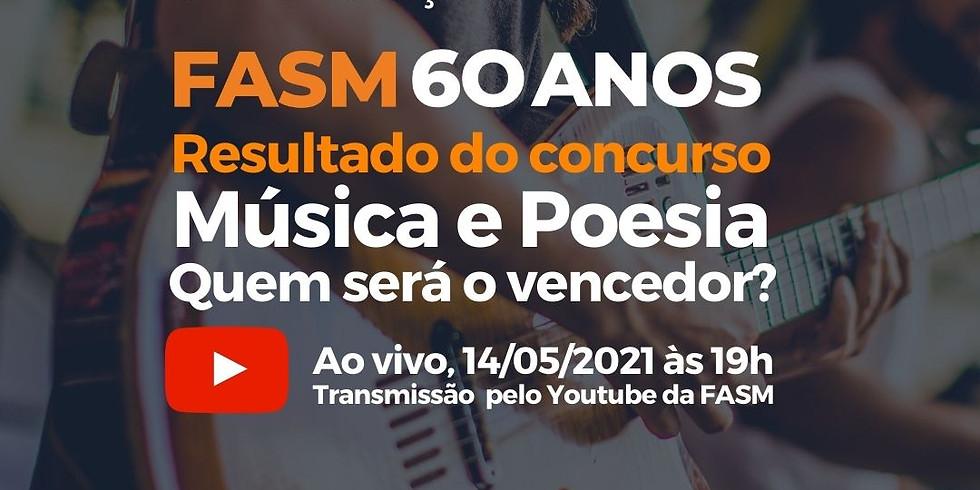 Resultado do concurso FASM 60 Anos: Música e Poesia