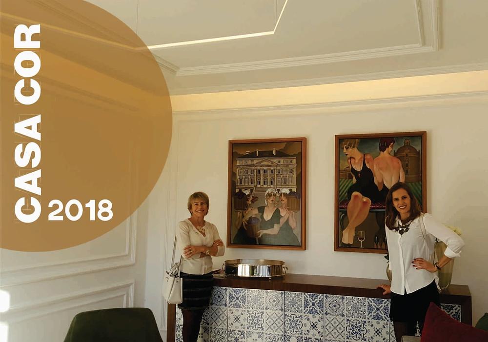 Maria Elena Dal Ponte Toigo e Marina Dal Ponte em visita a Casacor.