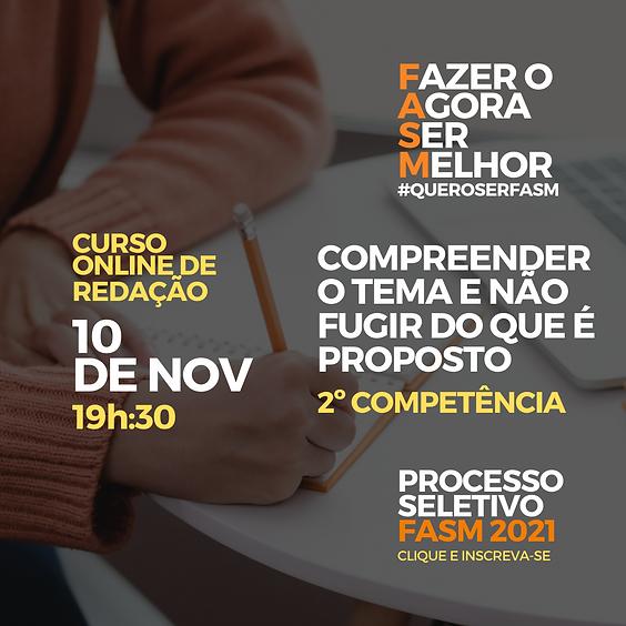 Compreender o tema e não fugir do que é proposto - Prof. Me. Rodrigo Mansor.