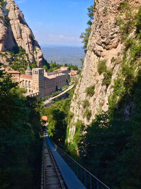 The monastery in Montserrat, Spain