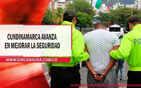Cundinamarca registra reducción en materia de delitos
