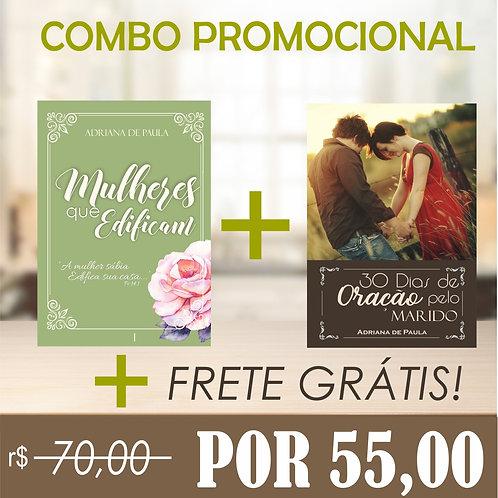 COMBO - Mulheres Que Edificam + 30 Dias de Oração Pelo Marido, COM FRETE GRÁTIS!