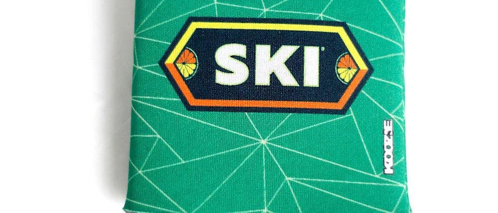 SKI Green Koozie