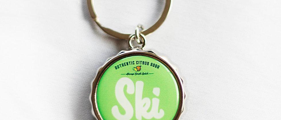 SKI Bottle Cap Key Chain