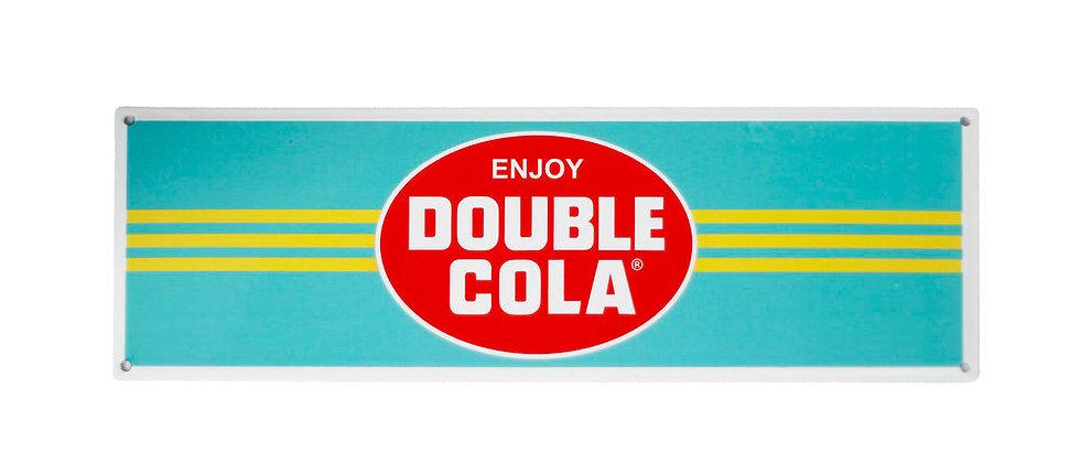"DOUBLE COLA Yellow ""Enjoy"" Sign"