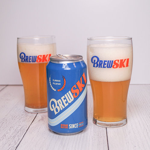 BREWSKI Pint Glass