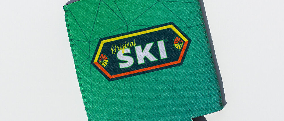 Green SKI Koozie