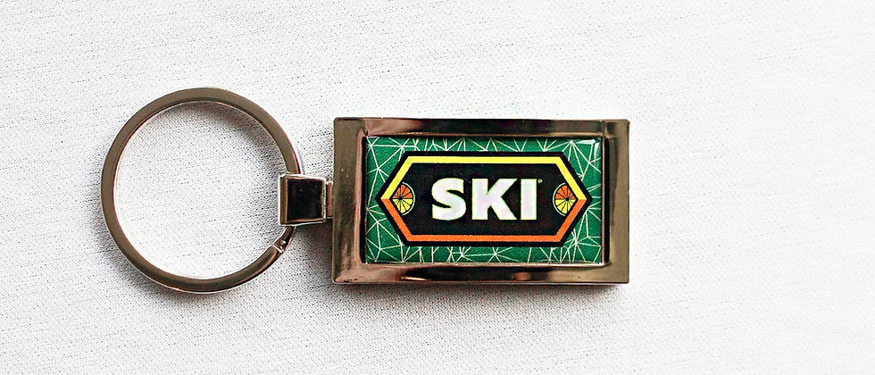 SKI Silver Metal Key Chain