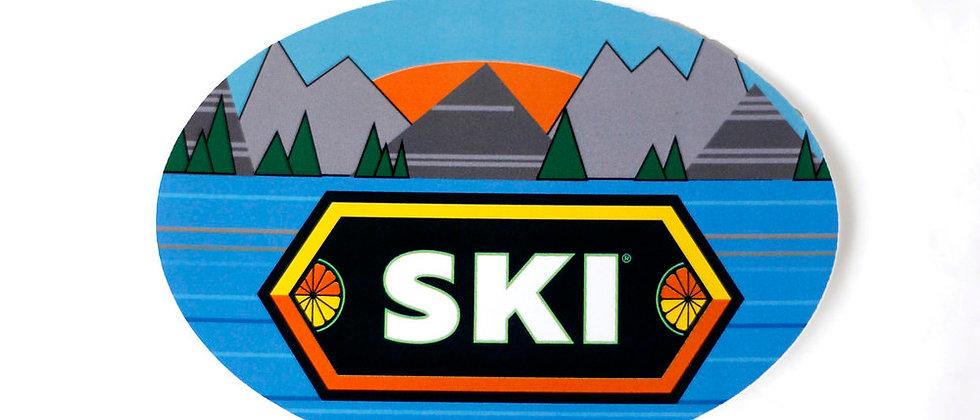SKI Mountains Re-Stickable Sticker