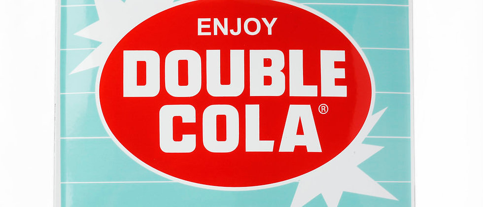 "Large Retro ""Enjoy DOUBLE COLA"" Sign"